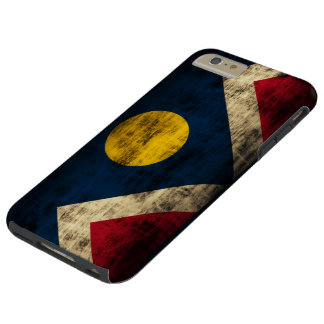Vintage Grunge Denver Colorado Flag Tough iPhone 6 Plus Case