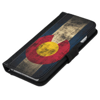 Vintage Grunge Flag of Colorado iPhone 6 Wallet Case