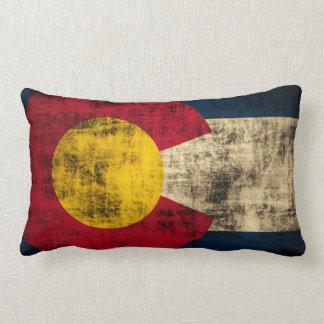 Vintage Grunge Flag of Colorado Lumbar Pillow