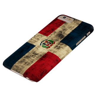 Vintage Grunge Flag of Dominican Republic Barely There iPhone 6 Plus Case