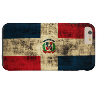 Vintage Grunge Flag of Dominican Republic Tough iPhone 6 Plus Case