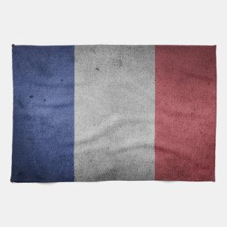 Vintage Grunge flag of France Kitchen Towel