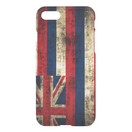 Vintage Grunge Flag of Hawaii iPhone 7 Case