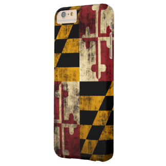 Vintage Grunge Flag of Maryland Barely There iPhone 6 Plus Case