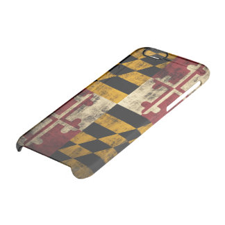 Vintage Grunge Flag of Maryland Clear iPhone 6/6S Case