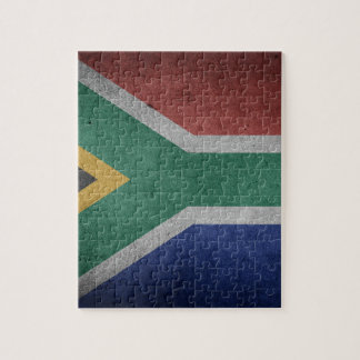 Vintage Grunge flag of South Africa Jigsaw Puzzle