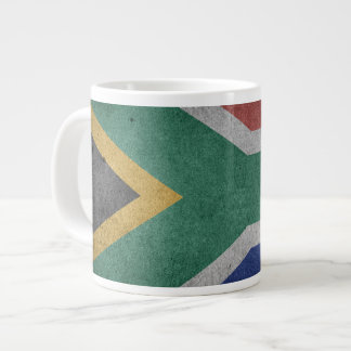 Vintage Grunge flag of South Africa Large Coffee Mug