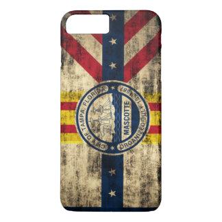 Vintage Grunge Flag of Tampa Florida iPhone 7 Plus Case