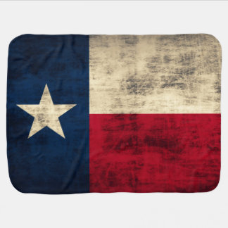 Vintage Grunge Flag of Texas Baby Blanket