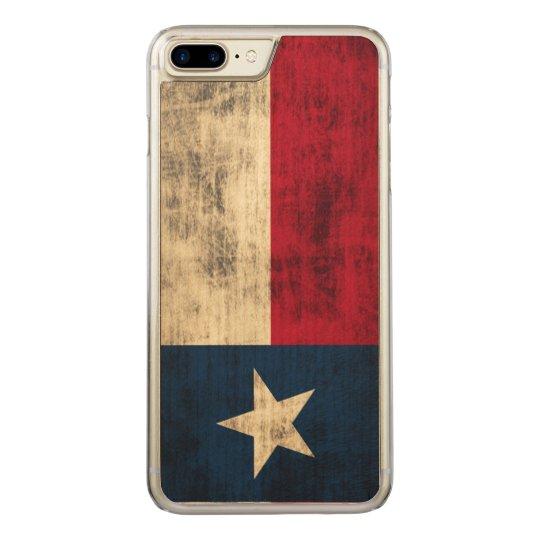 Vintage Grunge Flag of Texas Carved iPhone 8 Plus/7 Plus Case