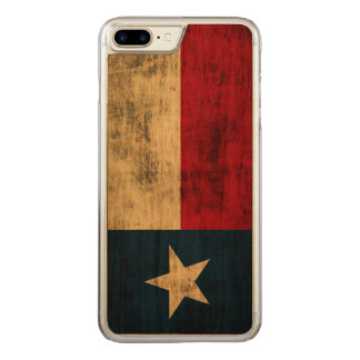 Vintage Grunge Flag of Texas Carved iPhone 8 Plus/7 Plus Case