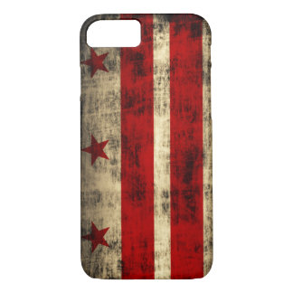 Vintage Grunge Flag of Washington D.C. iPhone 7 Case