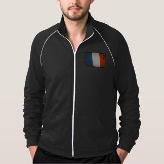 Vintage Grunge France Flag Jacket