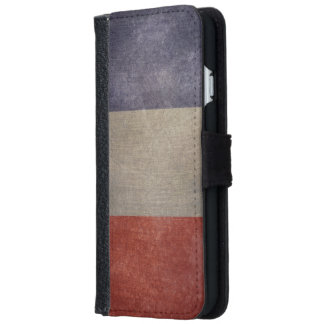 Vintage Grunge French Flag iPhone 6 Wallet Case
