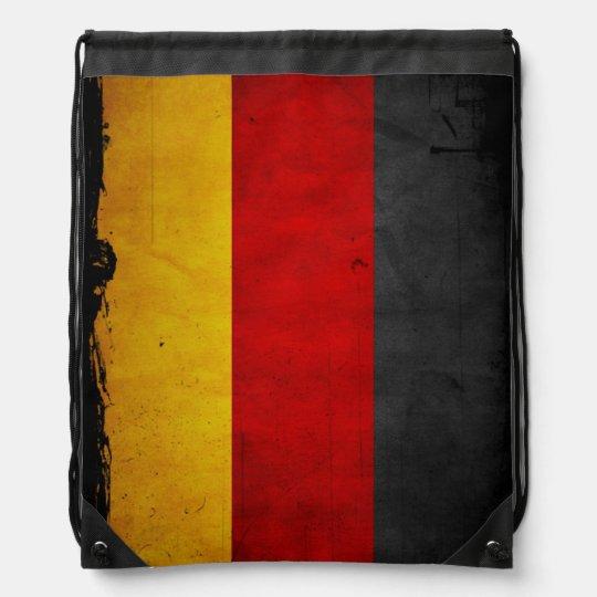 Vintage Grunge Germany Flag Drawstring Backpack