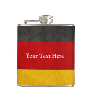 Vintage Grunge Germany Flag with Custom Text Flasks
