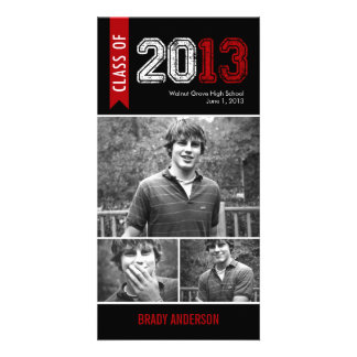 Vintage Grunge Graduation Announcement Photo Card