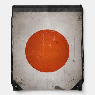 Vintage Grunge Japan Japanese Flag Drawstring Bag