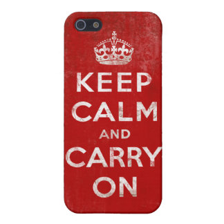 Vintage Grunge Keep Calm and Carry On iPhone 5 Covers