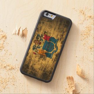 Vintage Grunge New Jersey Flag Maple iPhone 6 Bumper Case