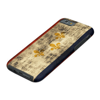 Vintage Grunge New Orleans Flag Tough iPhone 6 Case