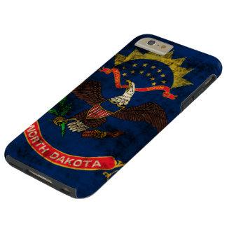 Vintage Grunge North Dakota Flag Tough iPhone 6 Plus Case
