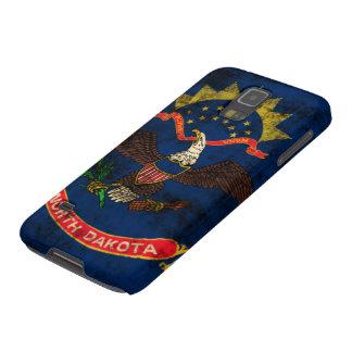 Vintage Grunge North Dakota Flag Galaxy S5 Cover