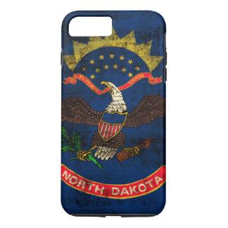Vintage Grunge North Dakota Flag iPhone 7 Plus Case