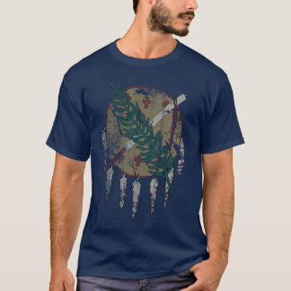 Vintage Grunge Patriotic State Flag of Oklahoma T-Shirt