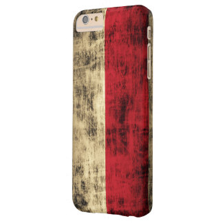 Vintage Grunge Polish Flag Barely There iPhone 6 Plus Case