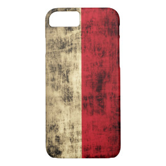 Vintage Grunge Polish Flag iPhone 7 Case