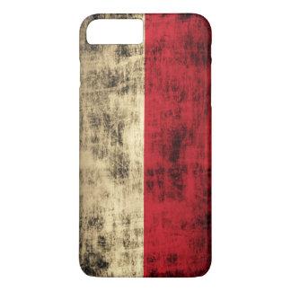 Vintage Grunge Polish Flag iPhone 7 Plus Case
