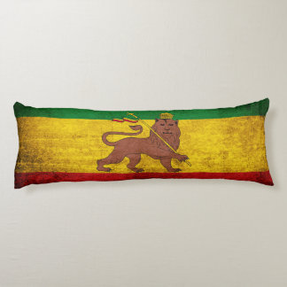 Vintage Grunge Rastafarian Flag Body Pillow