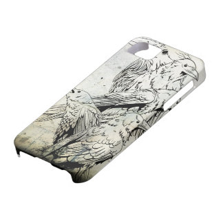 Vintage Grunge Raven Iphone 5 Case