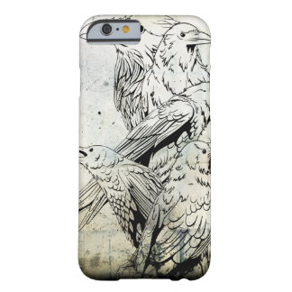 Vintage Grunge Raven iPhone 6 case Barely There iPhone 6 Case