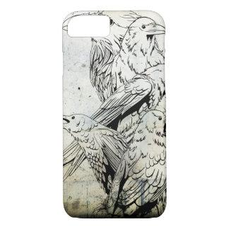 Vintage Grunge Raven iPhone 7 case