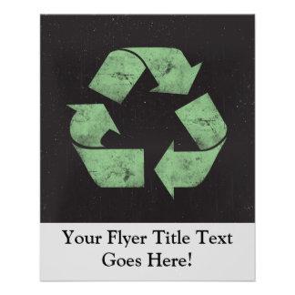 Vintage Grunge Recycle Symbol Flyer