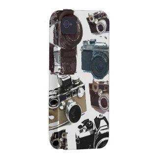 Vintage Grunge Retro Cameras Pattern iPhone 4 Cover