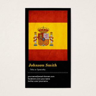 Vintage Grunge Spain Flag - Bandera de España Business Card