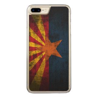 Vintage Grunge State Flag of Arizona Carved iPhone 8 Plus/7 Plus Case