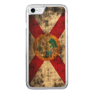 Vintage Grunge State Flag of Florida Carved iPhone 8/7 Case