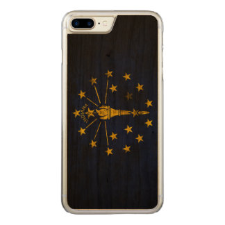 Vintage Grunge State Flag of Indiana Carved iPhone 8 Plus/7 Plus Case