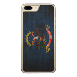 Vintage Grunge State Flag of North Dakota Carved iPhone 7 Plus Case