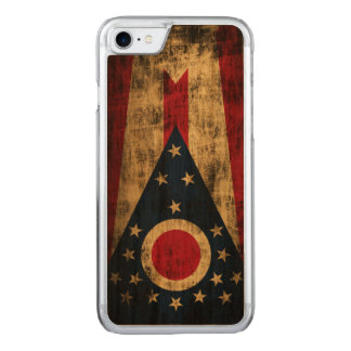 Vintage Grunge State Flag of Ohio Carved iPhone 8/7 Case