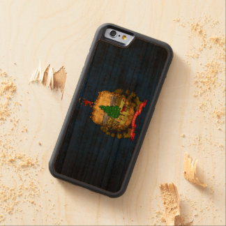 Vintage Grunge State Flag of Vermont Carved Cherry iPhone 6 Bumper Case