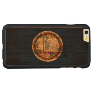 Vintage Grunge State Flag of Virginia Carved® Cherry iPhone 6 Plus Case