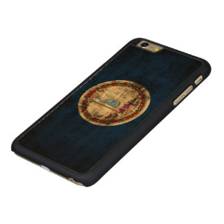Vintage Grunge State Flag of Virginia Carved Maple iPhone 6 Plus Case