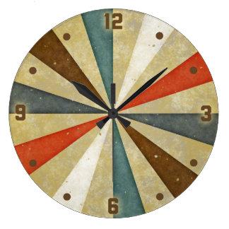 Vintage Grunge Sunburst Large Clock