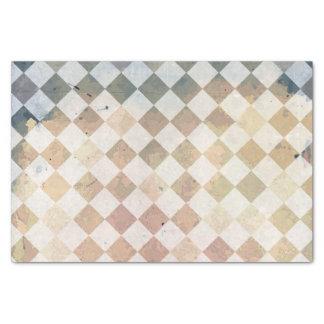 Vintage grunge tile pattern tissue paper