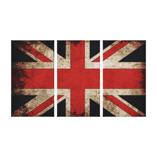 Vintage Grunge UK Flag Canvas Print